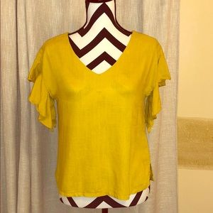 Preppy Mustard Blouse